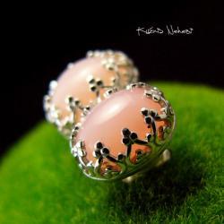 Nehesi,Kolczyki,ze Srebra,wkrętki,opalem - Kolczyki - Biżuteria