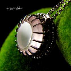 Nehesi,naszyjnik,srebrny,srebra,kwarcem - Naszyjniki - Biżuteria