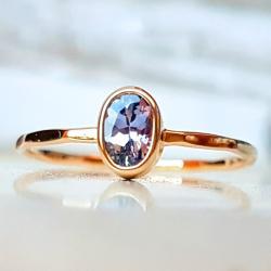 pierścionek,złoto,tanzanit,minerał - Pierścionki - Biżuteria