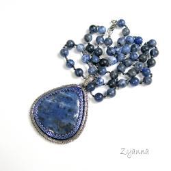 wisior,sodalit,niebieski,klasyczny - Wisiory - Biżuteria