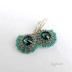 kolczyki,delikatne,zielone - Kolczyki - Biżuteria