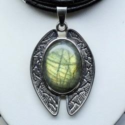 biżuteria,srebro.labradoryt,srebro artystyczne - Wisiory - Biżuteria