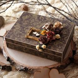 pudełko,rustykalny,na obrączki,obrączki,drewniane - Pudełka - Wyposażenie wnętrz
