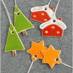 gwiazdki,świąteczne,domki,choinka - Ceramika i szkło - Wyposażenie wnętrz