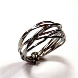 srebro,rodowanie,pierścionek,czarny - Pierścionki - Biżuteria