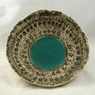 Ceramika i szkło patera,ceramika,turkus,rękodzieło,handmade,