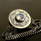 Naszyjniki srebro,kamień księżycowy,naszyjnik,celebrytka