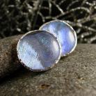 Kolczyki srebro,szkło dichroiczne,kolczyki,sztyfty