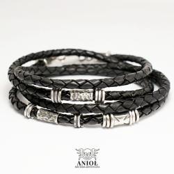 bransoleta skórzana,biżuteria męska,etno - Bransoletki - Biżuteria