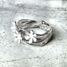 Pierścionki kwiatki,pierścionek,srebro,emalia
