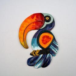 Beata Kmieć,tukan,ptak,ceramika,obraz - Ceramika i szkło - Wyposażenie wnętrz