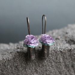 kolczyki,srebro,róża,delikatne,malutkie,mini - Kolczyki - Biżuteria