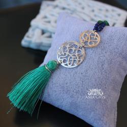 boho,lapis lazuli,efektowny naszyjnik - Naszyjniki - Biżuteria