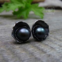romantyczne,perłowe,kobiece,naturalna perła - Kolczyki - Biżuteria