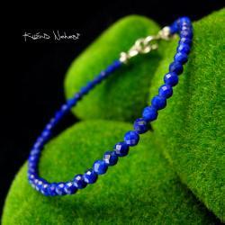 Nehesi,bransoleta,srebrny,oliwinem,lapis lazuli - Bransoletki - Biżuteria