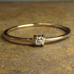pierścionek,złoto,brylant,diament - Pierścionki - Biżuteria