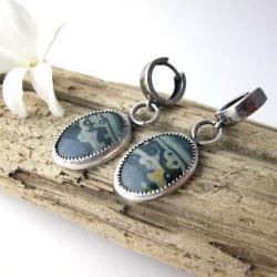 Kolczyki z heliotropem,srebrne kolczyki - Kolczyki - Biżuteria