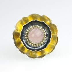 pierścionek,srebro,bursztyn,prezent,swieta,unikat - Pierścionki - Biżuteria