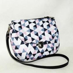 Energetyczna torebka,listonoszka geometryczna - Na ramię - Torebki
