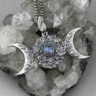 Wisiory bogini,wicca,czarownica,księżyc,noc,kwiaty