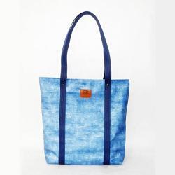 Duża niebieska torba - Na ramię - Torebki