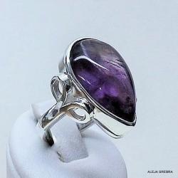 pierścionki,srebro,biżuteria,ametyst - Pierścionki - Biżuteria