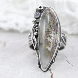 agat maszysty,z agatem,duży pierścionek,litori - Pierścionki - Biżuteria