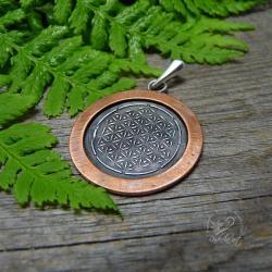 srebro,talizman,amulet,kwiat życia,wisior - Wisiory - Biżuteria
