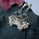 Kolczyki kolczyki ślubne,kolczyki z perłami,panna młoda